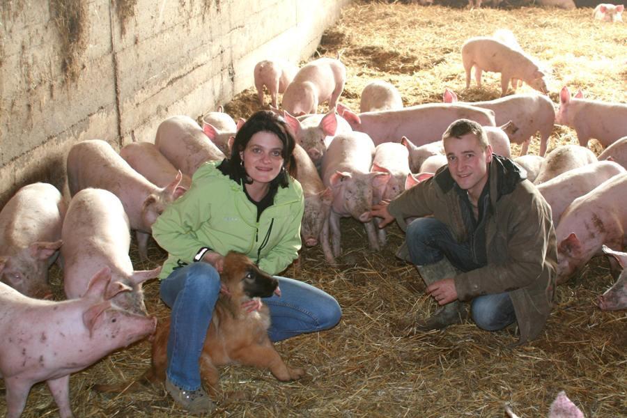 Elodie et Vincent Laur, éleveurs de porc bio