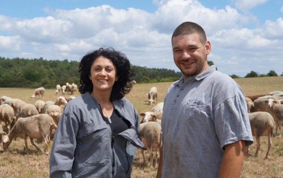 Claudie et Sébastien, GAEC Recoules de l'Hom, producteurs d'agneau bio